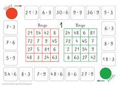 Lernstübchen: Bingo (multiplizieren und dividieren)