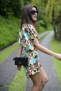 Flower dress caual chic.  Just add dressy thongs