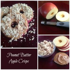 Peanut Butter Apple Crisps | Healthy Snack Recipes!