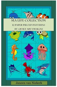 Name: 'Quilting : Sea Life Collection E-Book Paper Pieced Quilt Patterns, Quilt Patterns Free, Quilting Projects, Quilting Designs, Quilting Ideas, Pirate Quilt, Disney Quilt, Fish Quilt, Ocean Quilt