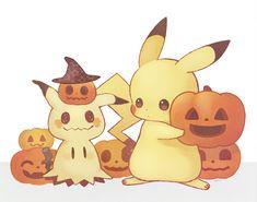 Pikachu and Mimikyu Pikachu Pikachu, Pichu Pokemon, Pokemon Pins, Pokemon Fan Art, Pokemon Go, Fanart Pokemon, Pokemon Halloween, Halloween Halloween, Halloween Pumpkins