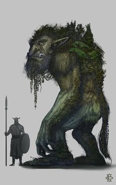 Troll fesbraa forest hill mountain wood monster beast creature animal | Create your own roleplaying game material w/ RPG Bard: www.rpgbard.com | Writing inspiration for Dungeons and Dragons DND D&D Pathfinder PFRPG Warhammer 40k Star Wars Shadowrun Call of Cthulhu Lord of the Rings LoTR + d20 fantasy science fiction scifi horror design | Not Trusty Sword art: click artwork for source