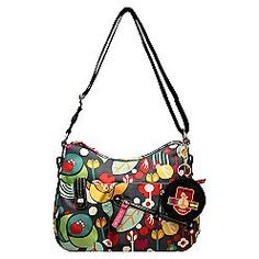 Lily Bloom-my favorite purses EVER! Made out of 100% recycled plastic bottles. I'm lovin' this print!