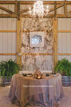 wedding decor - wedding reception sweetheart table, rustic, burlap and lace