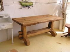 seaside mykonos furniture: Μοναστηριακά τραπέζια Rustic Table And Chairs, Greek House, Outdoor Furniture, Outdoor Decor, Entryway Bench, Image, Home Decor, Ideas, Entry Bench