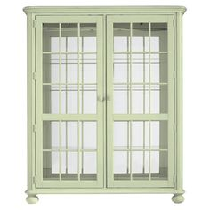 Newport Curio Cabinet in Sea Grass