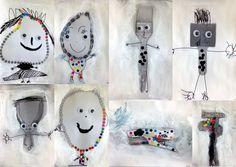 small heads of art Group Art Projects, Classroom Art Projects, School Art Projects, Art Classroom, Classe D'art, Kids Workshop, Sensory Art, How To Make Toys, Kindergarten Art