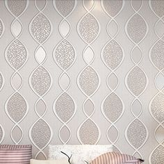 36.50$  Watch now - http://alizn7.shopchina.info/go.php?t=32430286593 - Blue Wallpaper non-woven modern brief stripe wallpaper thickening three-dimensional 3d wallpaper eco-friendly abstract  #buyonlinewebsite