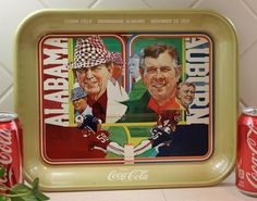 Coca Cola Serving Tray, Coke Tray, Alabama Auburn 1975 Advertisment. $29.00, via Etsy.