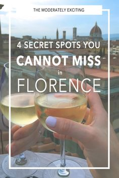 4 Secret Spots You CAN'T Miss in Florence Italy! From rooftops with a view to secret wine shops that fill your old bottles for loose change, to secret late-night bakeries for those with a sweet tooth, this is your city guide to them all in Florence!