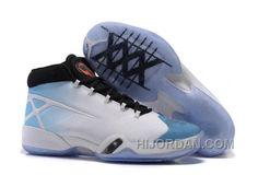 """b81d3e85d6d5c4 Air Jordan 30 XXX """"UNC"""" White Black-University Blue Authentic W7Cc4"""