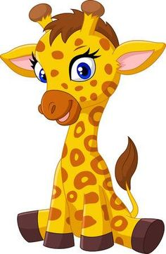 Baby giraffe Illustrations and Stock Art. Baby giraffe illustration and vector EPS clipart graphics available to search from thousands of royalty free stock clip art designers. Cartoon Baby Animals, Cartoon Giraffe, Cute Giraffe, Cute Cartoon, Cute Animals, Wild Animals, Clipart Baby, Giraffe Drawing, Giraffe Pictures