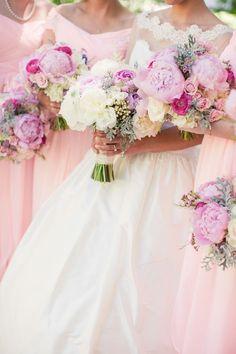 Beauty in Roses | pink bridesmaid dress | fuchsia wedding | www.endorajewellery.etsy.com | pink wedding