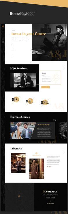 Allen & Jain Website on Behance