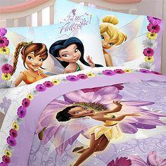 Fairies Bedding Set - Tinkerbell Comforter Set - Twin Bed