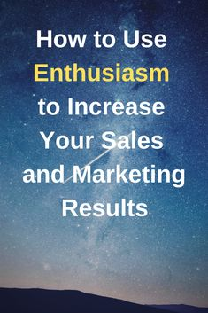 Enthusiasm is free and ready to use by anyone. But do you use it to your advantage? In this post I give actionable advice taken from my own experience and how I have used it to help my sales and marketing. Sales And Marketing, Marketing And Advertising, Longest Movie, Success And Failure, First Story, Stop Talking, The Godfather, Things To Think About, Things To Sell