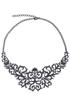Hollow-out Black Necklace