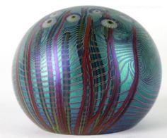Orient-Flume-Angelfish-Seascape-Iridescent-Studio-Art-Glass-Desk-Paperweight-SSU