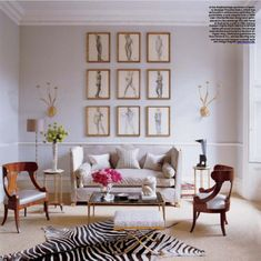 Elle Decor: London flat designed by interior designer Alex Papachristidis in a collaborative effort ...