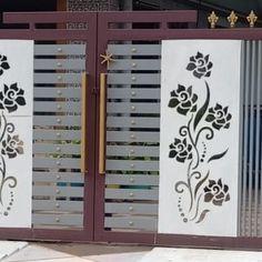 Grill Gate Design, Window Grill Design Modern, House Main Gates Design, House Outside Design, Steel Gate Design, Front Gate Design, Door Gate Design, Wooden Door Design, House Front Design
