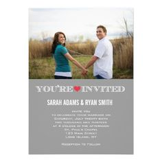 See MoreCute Heart Grey Red Wedding Photo Invitationsin each seller & make purchase online for cheap. Choose the best price and best promotion as you thing Secure Checkout you can trust Buy best