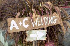 Such a #beautiful, #rustic, #wood #welcomesign for the #wedding! ::Alyssa + Curtis' delightful wedding in Del Mar, California:: #diyideas #diywedding #charming #initials #signs