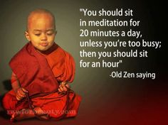 Silent Retreat - Providence Life Coaching and Reiki Counseling - you should sit for twenty minutes per day Zen saying Meditation Zen Quotes, Meditation Quotes, Yoga Quotes, Inspirational Quotes, Zen Meditation, Zen Sayings, Motivational Quotations, Meditation Images, Meditation Benefits