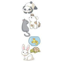Sticker enfant Animaux Kawai Casélio http://www.deco-et-saveurs.com/stickers-enfant/2842-stickers-enfants-animaux-kawai-3660004076615.html