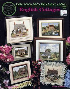 "Cross My Heart Cross Stitch Chart ""English Cottages"" 6 Patterns CSB-59 #CrossMyHeart"