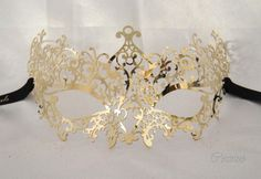 Waves mask masquerade mask luxury venetian mask by Cocone on Etsy, $60.00