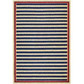Found it at Wayfair - Covington Nautical Stripes Navy/Red Indoor/Outdoor Area Rug