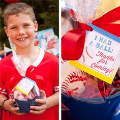 """Personalize your party favors with these simple tags. They are a fun way to say """"Thanks for coming! Softball Party Favors, Baseball Birthday Party, 10th Birthday Parties, Dodgers Party, Team Theme, Party Themes For Boys, Celebrate Good Times, Sports Party, Party Treats"""