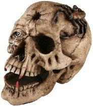 Halloween Fake Skull with Fangs Prop