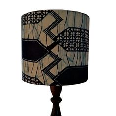 Indigo African drum lampshade Fathers day gift geometric
