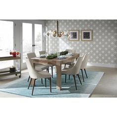 Home Decorators Collection Edmund Smoke Grey Dining Table 1514000980 - The Home Depot Home, Grey Dining Tables, Dining, Modern Dining Room, Faux Leather Dining Chairs, Decor Styles, Dining Table, Home Decorators Collection, Table