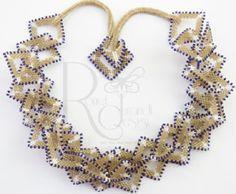 Tumbleweeds - a necklace tutorial using peyote squares or hexagons Peyote Patterns, Beading Patterns, Bead Store, Necklace Tutorial, Geometric Necklace, Peyote Stitch, Beading Tutorials, Geometric Shapes, Beaded Jewelry