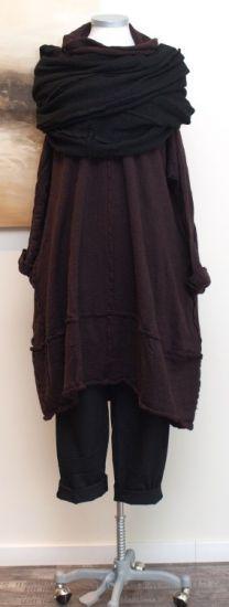 rundholz black label - Ballonkleid gekochte Wolle rubin - Winter 2014 - stilecht - mode für frauen mit format...