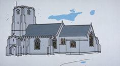 C; Patrick Caulfield. Parish Church. https://www.nationalgalleries.org/collection/artists-a-z/c/artist/patrick-caulfield/object/parish-church-gma-1536