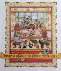 Friends- Handmade Fridge Magnet-Mary Engelbreit Artwork