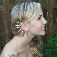 Spiked Ear Cuff by pluckedbysydney on Etsy, $20.00