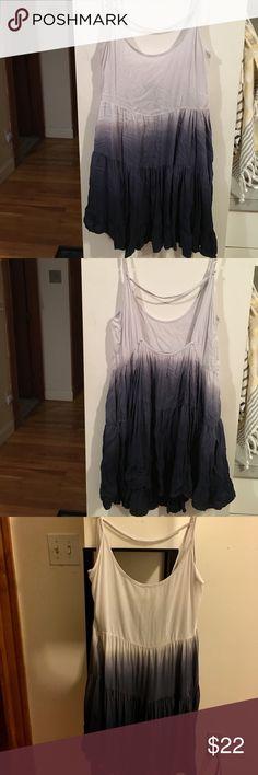 Brandy Melville Dress Brandy Melville ombré blue flowy dress. Open back, worn but great condition. Brandy Melville Dresses