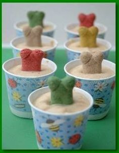 These pupsicles are super simple to make, allowing pooches plenty of slurping fun as the frozen treats thaw. Click through for instructions.