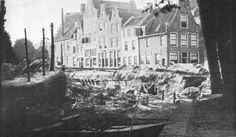 Het Verwulft omstreeks 1880. De panden die we zien staan op de plek waar later V & D kwam