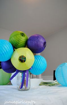 More great customizable paper lanterns...really obsessed with these.