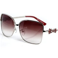 LianSan Sunglasses Metal Butterfly Foot Wire Ultra-light Lens Metal Box UV Protection, Anti-sunlight Radiation Ms. Multiple Choice Four-color Models J58106 Charm Red LianSan. $5.97