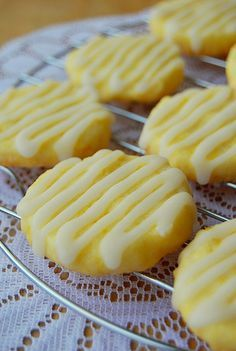 Lemon Butter Cookies  1 cup & 2 tablespoons All-Purpose Flour 1/3 cup Sugar 1 1/2 tablespoon Lemon Zest, finely grated 7 tablespoons Unsalted Butter, cut into 1/4″ cubes 1 Egg Yolk  For the Glaze: 1 cup Powdered Sugar 3 tablespoons Lemon Juice, fresh