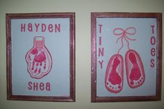 Handprint Ballerina Dress and Footprint Ballerina Slippers