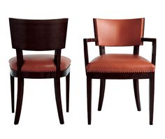 810 Dining & Game Chairs - A. Rudin.  22W x 24D x 34H.  More expensive manufacturer - most likely between $1000-$2000.