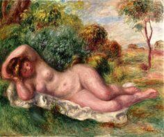 Reclining Nude (The Baker's Wife) via Pierre-Auguste Renoir      Size: 53.98x64.77 cm  Medium: oil on canvas