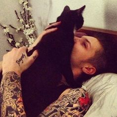 Andy Biersack and Crow